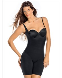 undetectable edge mid-thigh bodysuit shaper-700- Black-MainImage
