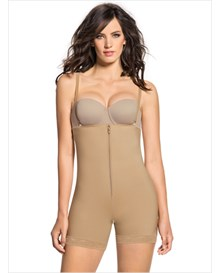 strapless bodysuit shaper short with booty lifter--MainImage