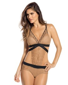 lace teddy with hiphugger bottom-074- Gold-MainImage