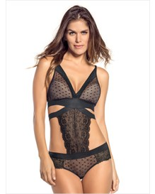 lace teddy with hiphugger bottom-700- Black-MainImage