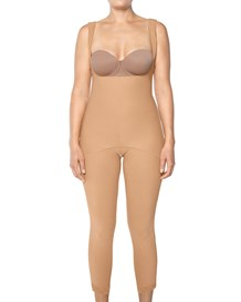 entire body shaper with side zippers-880- Beige-MainImage