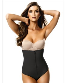 strapless body shaper with thong-700- Black-MainImage