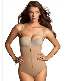 strapless body shaper with thong-880- Beige-MainImage