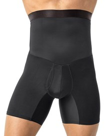 leo high waist stomach shaper with boxer brief-700- Black-MainImage