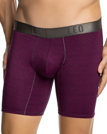 leo flex-fit cotton boxer brief-455- Dark Purple-MainImage