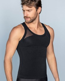 leo crew neck seamless compression tank-700- Black-MainImage