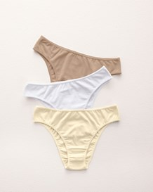 3-pack cotton bikini panty with tummy control-S08- Assorted-MainImage