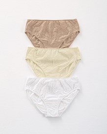 3 brief knickers with lace--MainImage
