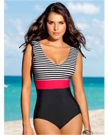 slimming one-piece swimsuit-700- Black-MainImage