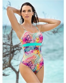 slimming one-piece swimwear-572- Blue-MainImage