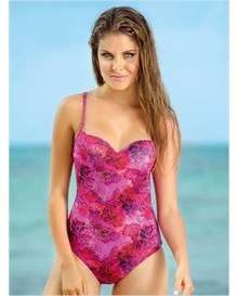 beach slimming one-piece swimsuit-970- Fuchsia-MainImage