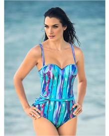 extra firm control strapless one-piece swimsuit-572- Blue-MainImage