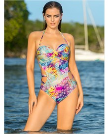 strapless monokini bathing suit-572- Blue-MainImage