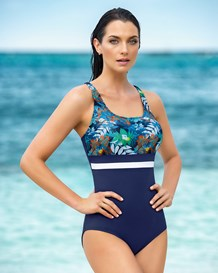 slimming silhouette one-piece bathing suit--MainImage