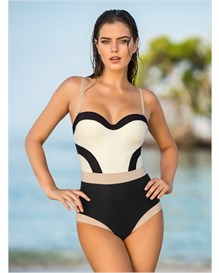 slimming design one-piece bathing suit-700- Black-MainImage