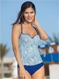 smooth control one-piece swimsuit-572- Blue-MainImage