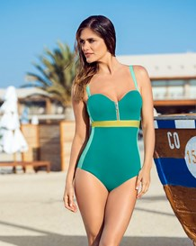 removable straps one-piece suit-692- Sea Green-MainImage