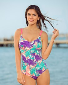 palm perfect slimming swimsuit with metallic accessories-216- Multicolor-MainImage