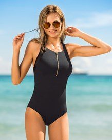 high-neck one-piece bathing suit--MainImage