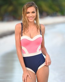 perfect shape one-piece swimsuit with moderate compression-216- Candy Pink and Blue-MainImage