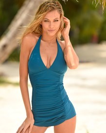 firm compression one-piece suit with great coverage-563- Blue-MainImage
