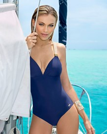 slimming mesh racerback swimsuit--MainImage