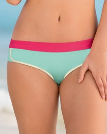 panty para bikini tipo minishort-572- Mint and Pink-MainImage