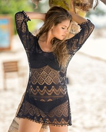 vestido playero corto de malla-700- Black-MainImage