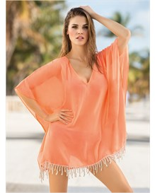 tunic beach cover-up-216- Light Orange-MainImage
