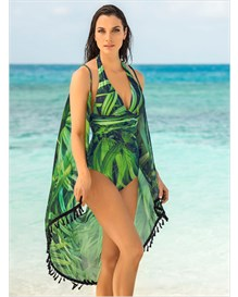 multiway beach dress-677- Green Leaves-MainImage