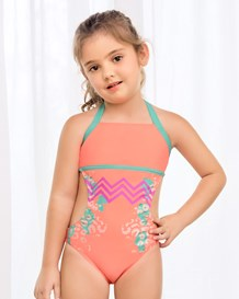 trikini tipo halter para nina tiny-230- Orange-MainImage