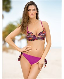 extreme push-up top and string-tie bottom-366- Pink-MainImage