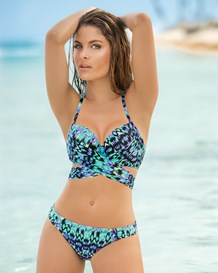 multiway triangle top and bikini bottom suit--MainImage