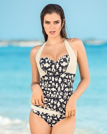 strapless tankini and bikini bottom bathing suit-700- Black-MainImage