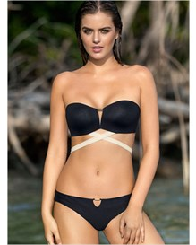 bandeau top with multiway straps and booty lifter bottom-700- Black-MainImage