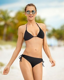 bikini triangular con top estilo cortina-701- Black-MainImage