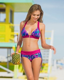 bikini triangular con broche delantero-970- Pink and Blue-ImagenPrincipal