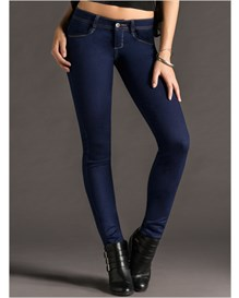 skinny jeans with booty push-up-520- Dark Blue-MainImage