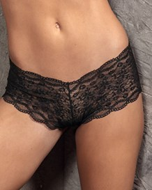 hiphugger style panty in modern lace-712- Black-MainImage