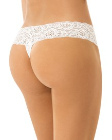 delicate low rise thong in lace--MainImage