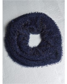reversible knit infinity scarf-543- Navy Blue-MainImage
