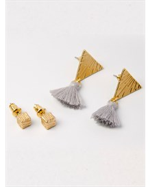 set x 2 aretes estilo topitos-123- Gold-MainImage