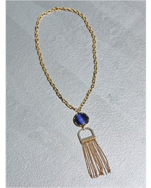 gold pendant necklace with tassels-833- Gold-MainImage