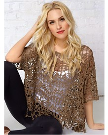 crochet knit top-790- Brown-MainImage