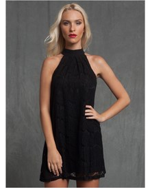 high neck halter lace dress--MainImage