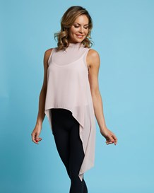 sleeveless high neck top-301- Rose-MainImage