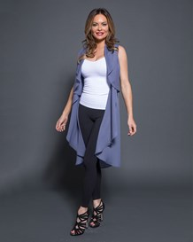 sleeveless cascade cardigan vest-547- Blue-MainImage