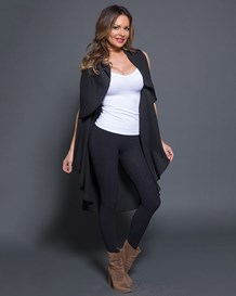 sleeveless cascade cardigan vest-700- Black-MainImage