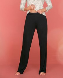 pantalon de pijama de bota recta-700- Black-MainImage